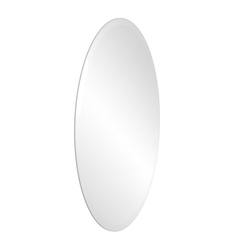 Frameless Oval Wall Mounted Mirror