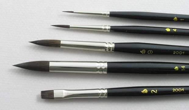 "Trinity Brush Siberian Blue Squirrel Set of 5 Art Brushes ""Portrait"""