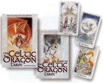 Celtic Dragon Tarot Deck & Book By Conway & Hunt