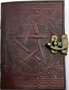 "5"" X 7"" Brown Pentagram Leather W/ Latch"