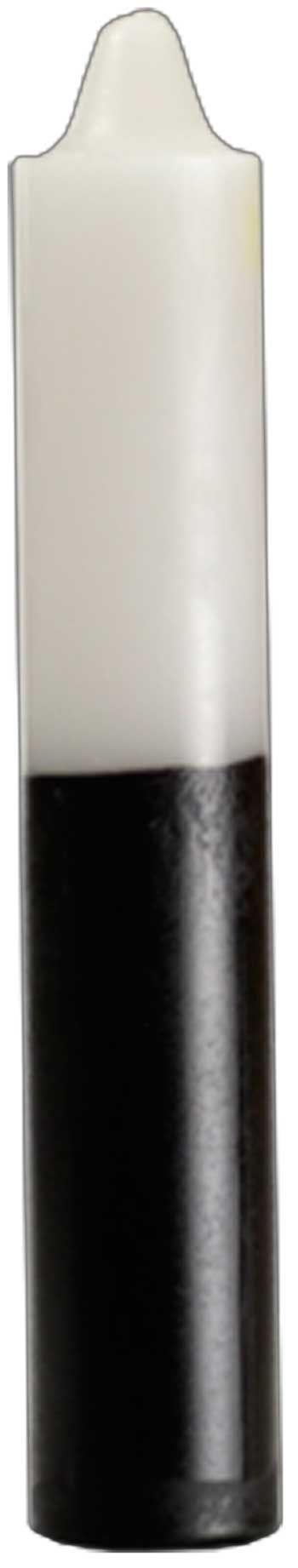 "9"" White/ Black Pillar Candle"