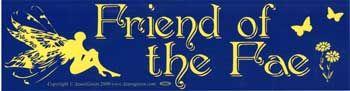 Friend Of The Fae Bumper Sticker