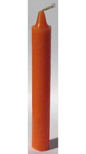 "Orange 6"" Taper Candle"