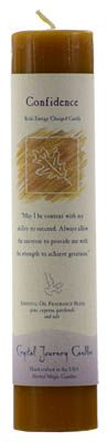 Confidence Reiki Charged Pillar Candle