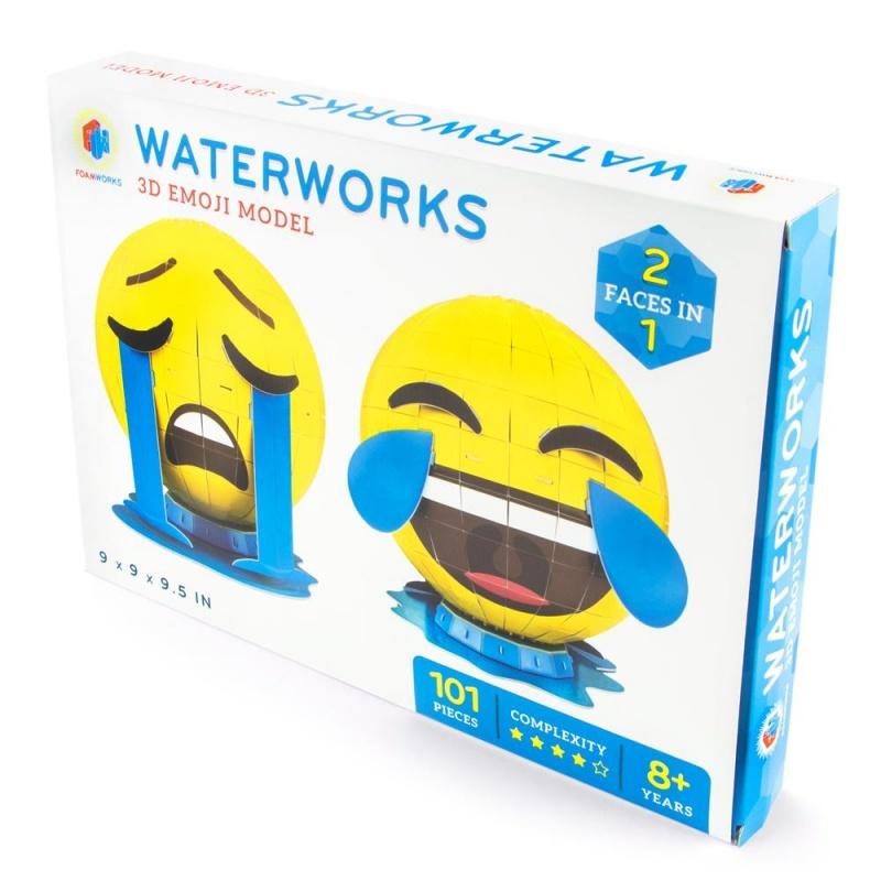 3D Foam Emoji Model, Waterwork