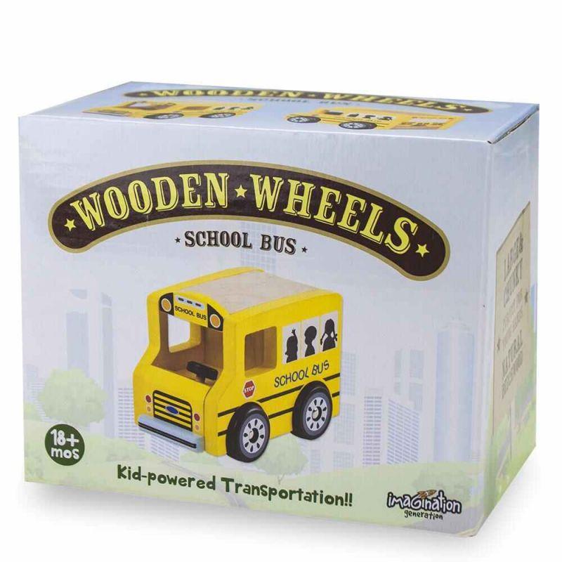 Wooden Wheels School Bu