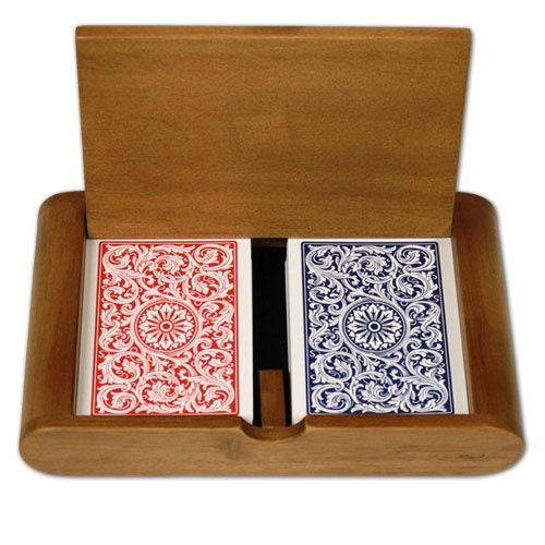 Copag 1546 Rb Poker Size Regular Index Wooden Box