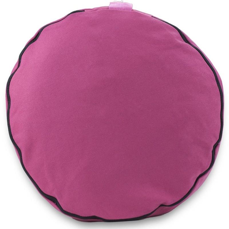 "Pink 15"" Round Zafu Meditation Cushion"