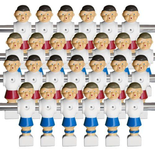 Complete Set Of 26 Old Style Foosball Men With Hardware
