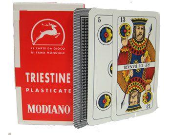 Deck Of Triestine Italian Regional Playing Cards