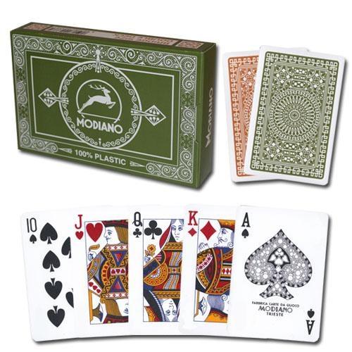 Modiano Club Poker Green/brown Regular