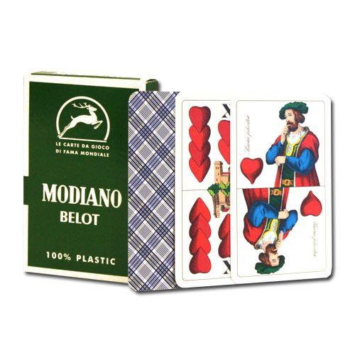 100% Plastic Deck Of Belot Italian Regional Playing Cards
