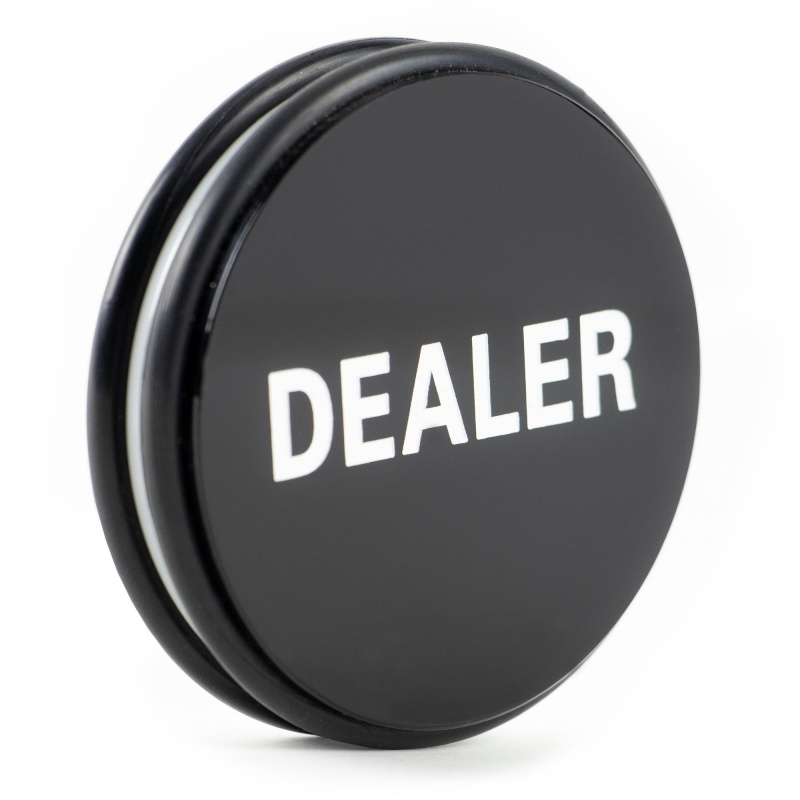 2-Sided Dealer Button Poker Buck 3 Inches