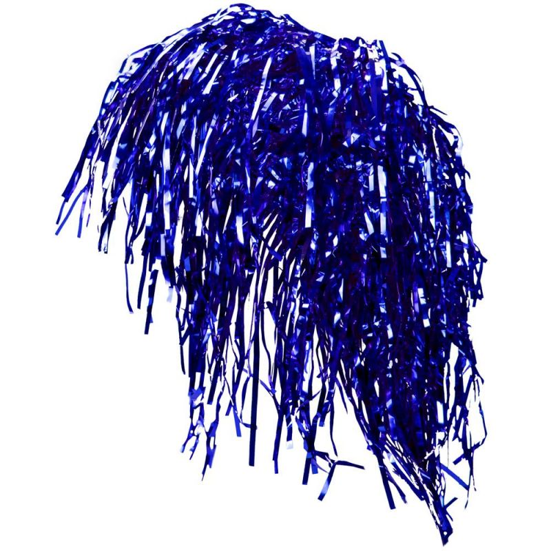 Tinsel Wigs 6-pack, Blue