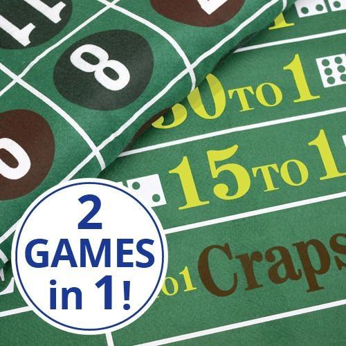 Craps And Roulette Table Felt