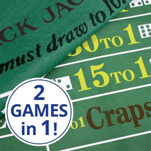 Blackjack And Craps Felt Layout