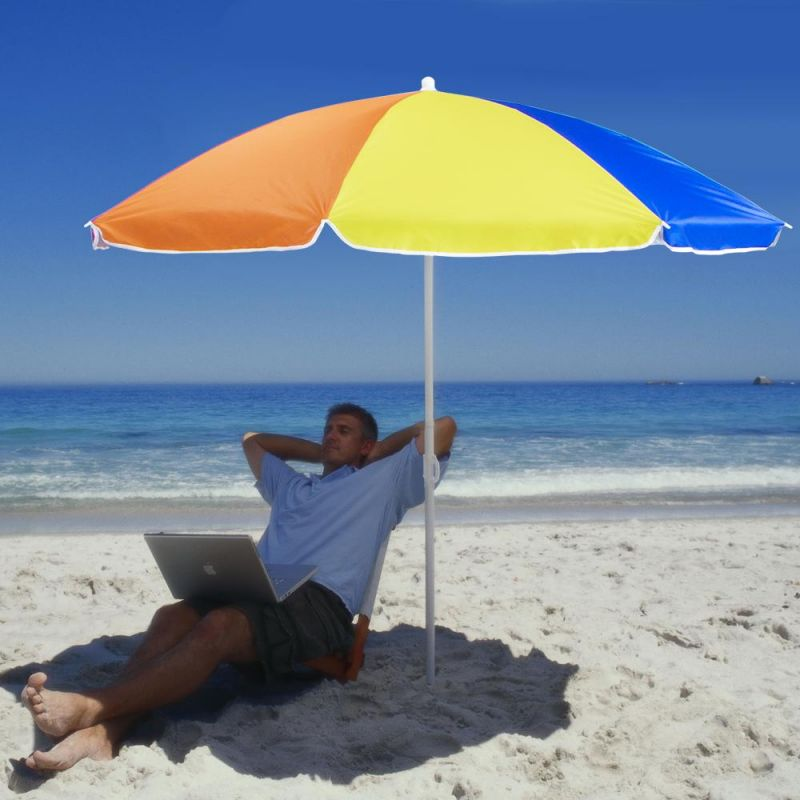 Rainbow Beach Umbrella, 6-Foot