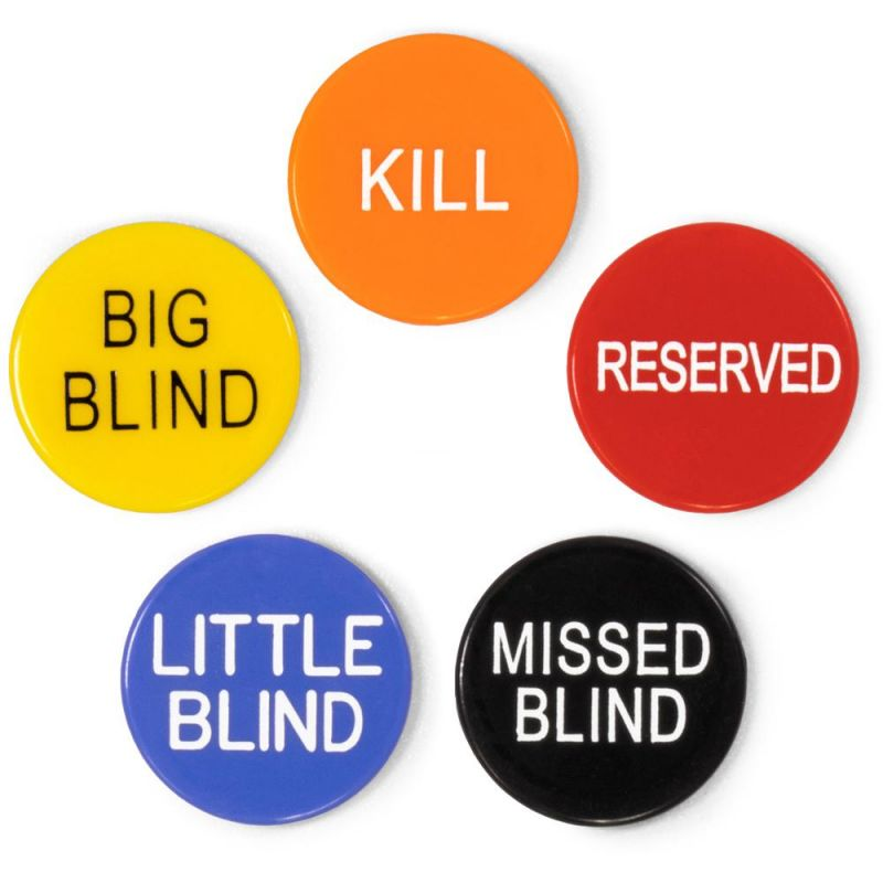 1' Button Combo Pack (little, Big, Kill, Miss, Reserve)