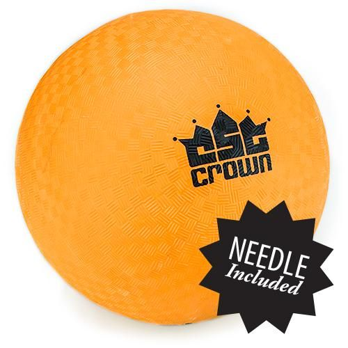 "Orange Dodge Ball 8.5"" With Needle"