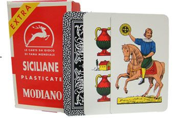 Deck Of Siciliane N96 Italian Regional Playing Cards