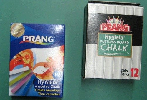 Dixon Prang Chalk: Dustless, White Sticks