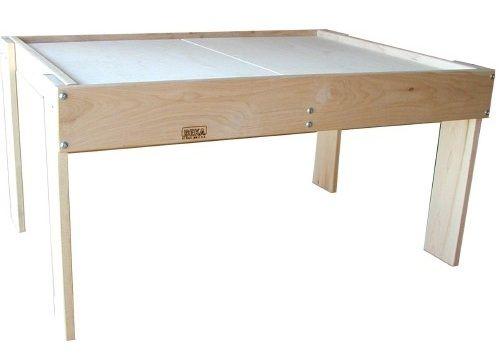 Beka Mini-Train Table: Maple Activity Table with Split Top