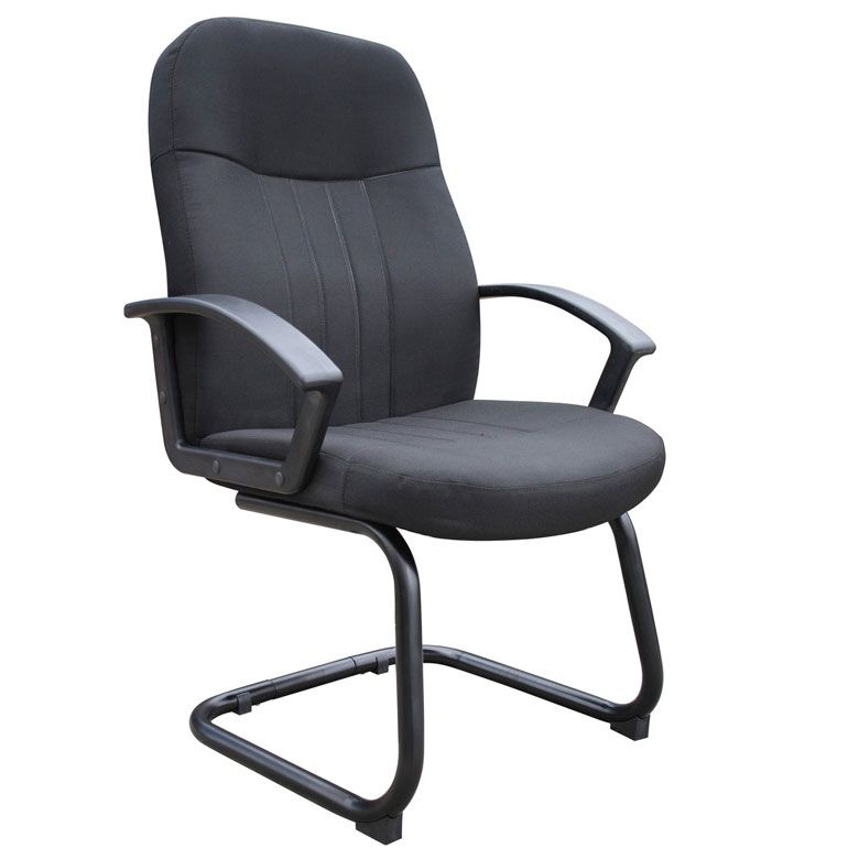 Boss Mid Back Fabric Guest Chair In Black