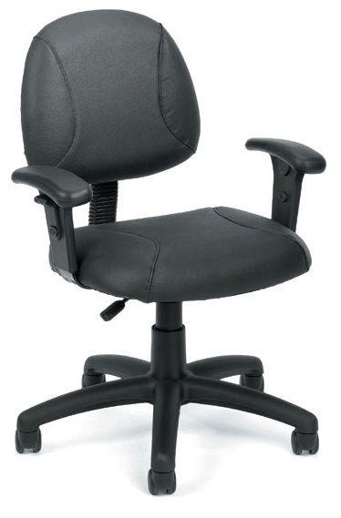 Boss Black Posture Chair W/ Loop Arms