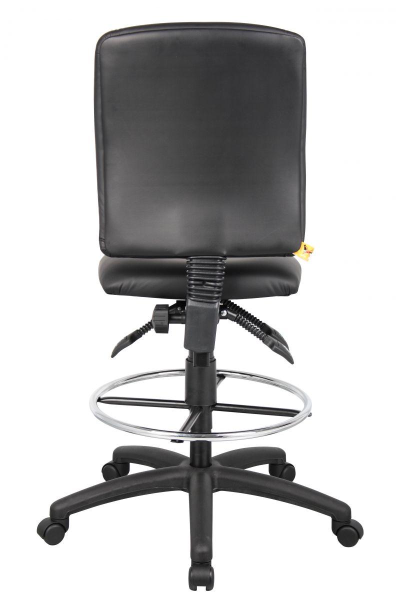 Boss Multi-function Leatherplus Drafting Stool