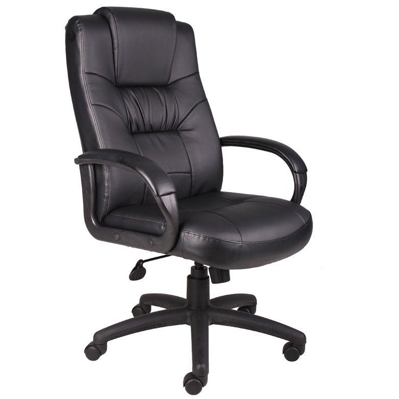 Boss Executive High Back Leatherplus Chair W/Knee Tilt