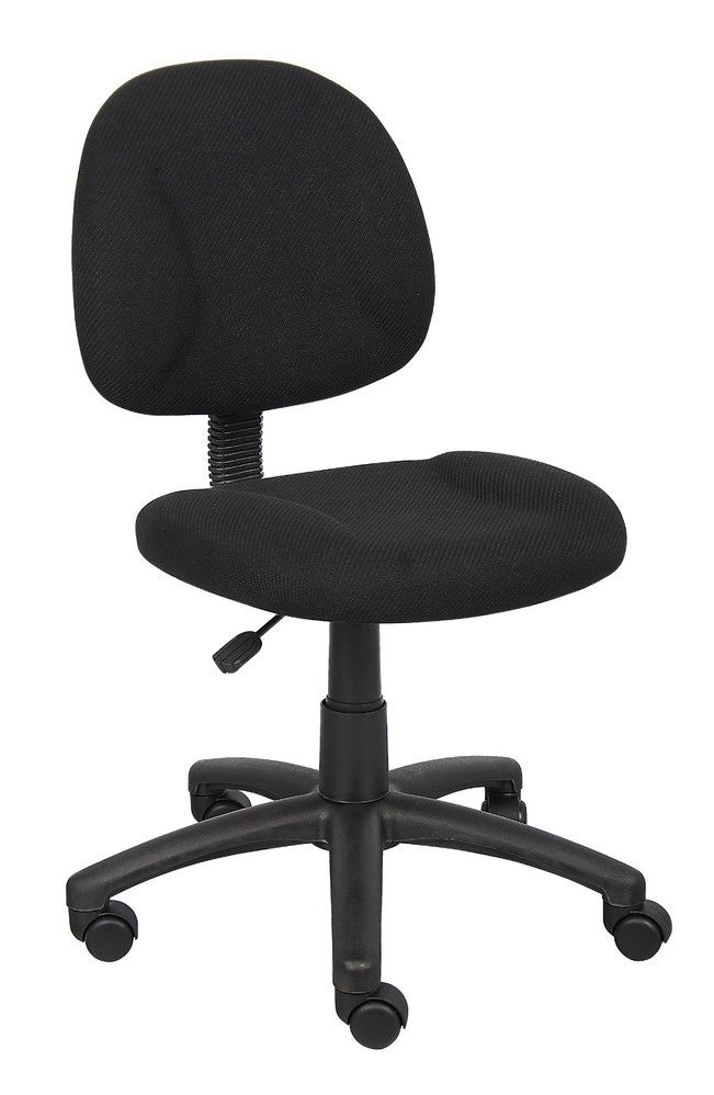 Boss Perfect Posture Deluxe Office Task Chair Without Arms, Black