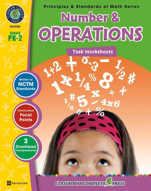 Classroom Complete Book: Number & Operations Task Sheet, Grade PK,K,1,2