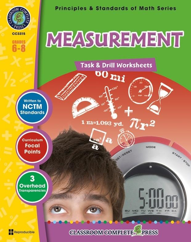 Classroom Complete Regular Education Book: Measurement - Task & Drill Sheets, Grades - 6, 7, 8