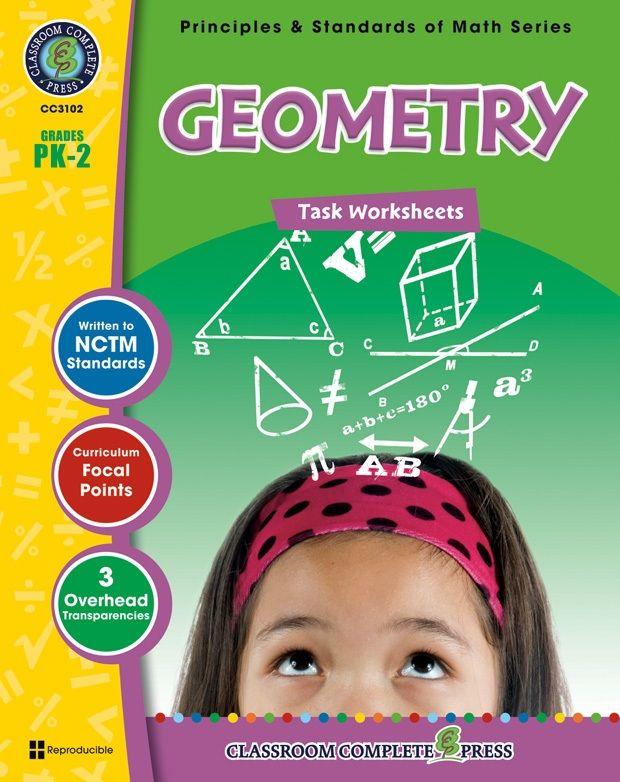 Classroom Complete Book: Geometry Task Sheets, Grade PK,K,1,2