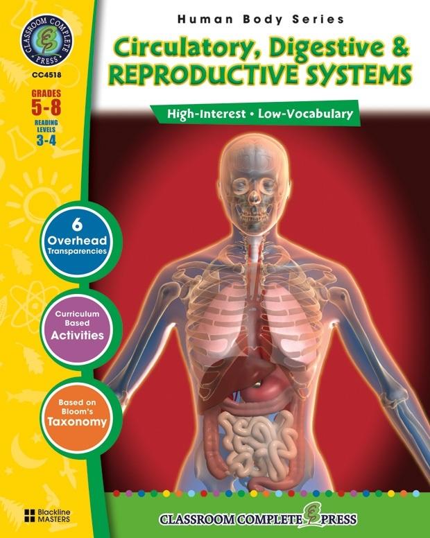 Classroom Complete Regular Education Science Book: Human Body - Circulatory, Digestive, Reproductive, Grades - 5, 6, 7, 8