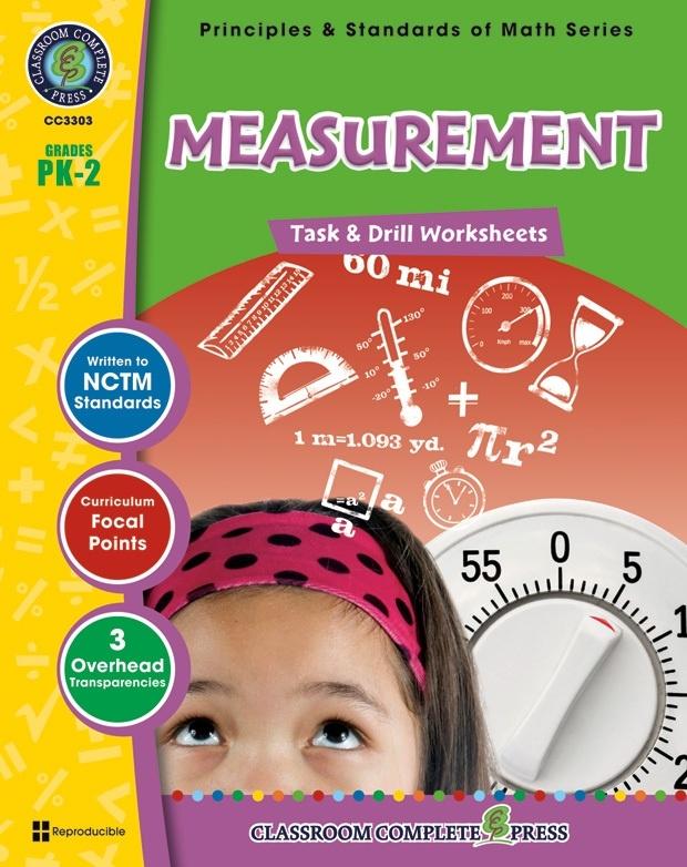 Classroom Complete Regular Education Book: Measurement - Task & Drill Sheets, Grades - PK, K, 1, 2