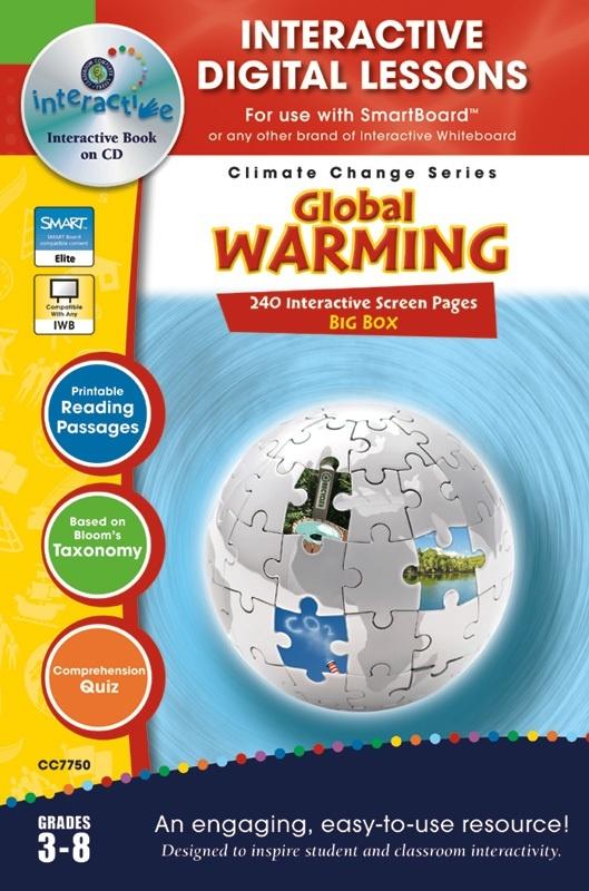 Classroom Complete IWB Software: Global Warming Big Box, Digital Lesson Plans, Grades: 3, 4, 5, 6, 7, 8