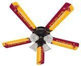 """New Ncaa Arizona State Sun Devils 52"""" Ceiling Fan"""