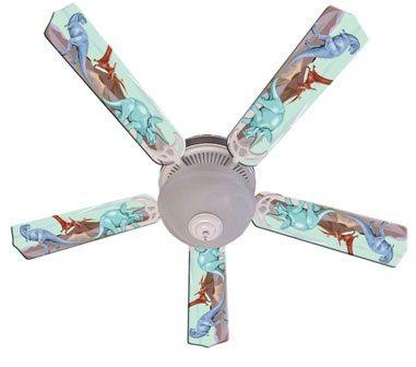 Ceiling Fan Designers Kids Dinosaur Dino Land Fan/Blades