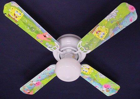 "New Sponge Bob Square Pants Ceiling Fan 42"""