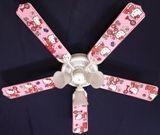 """New Hello Kitty Pink Kids Ceiling Fan 52"""""""