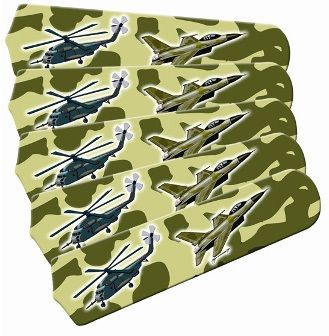 """New Freedom Camo Military 52"""" Ceiling Fan Blades Only"""