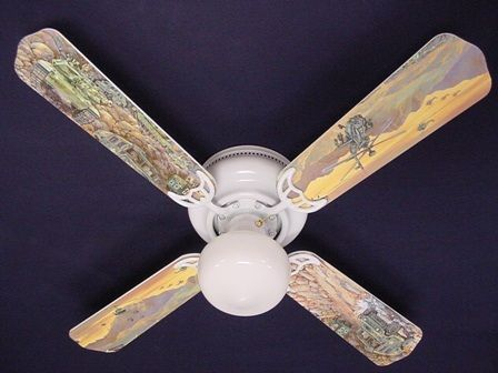 """New Army Tanks Military Helicopter Ceiling Fan 42"""""""