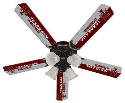 """New Ncaa Texas A&m Aggies 52"""" Ceiling Fan"""