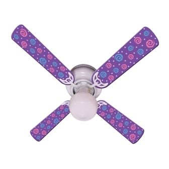 Ceiling Fan Designers Kids Purple Party Pops Ceiling Fan