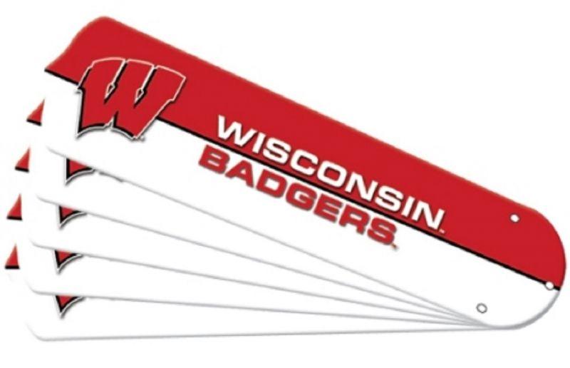 """New Ncaa Wisconsin Badgers 42"""" Ceiling Fan"""