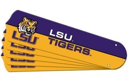 """New Ncaa Lsu Tigers 42"""" Ceiling Fan Blade Set"""