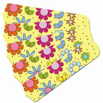 "New Flower Power Butterflies Yellow 52"" Ceiling Fan Blades Only"