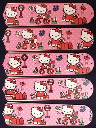 """New Hello Kitty Pink 52"""" Ceiling Fan Blades Only"""