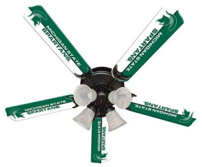 """New Ncaa Michigan State Spartans 52"""" Ceiling Fan"""